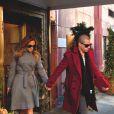 Jennifer Lopez et Casper Smart sortent de leur hôtel à New York, le 30 janvier 2012.