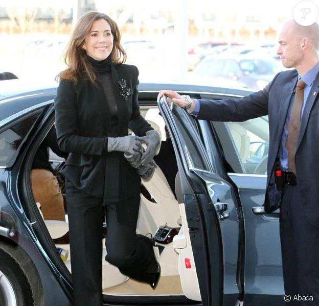 """La princesse Mary de Danemark inaugurait le 2 févier 2012 au Bella Center de Copenhague une conférence sur le marché intérieur européen, """"Un marché - Une Europe""""."""