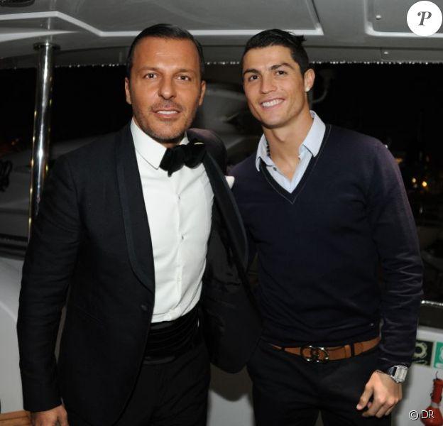 Jean-Roch et Cristiano Ronaldo sur le tournage du clip de Jean-Roch, Name of love