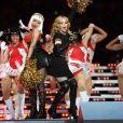 Madonna et Nicki Minaj le 5 février 2012 lors du show donné à la mi-temps du Super Bowl à Indianapolis