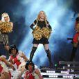 Madonna, M.I.A et Nicki Minaj le 4 février 2012 lors du show donné à la mi-temps du Super Bowl à Indianapolis