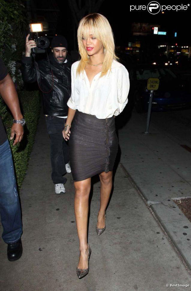 Rihanna à Los Angeles, le 8 février 2012.