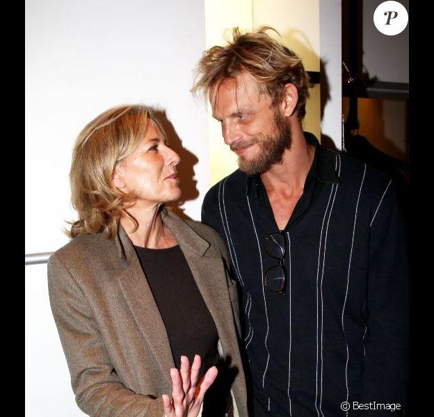 Claire Chazal et Arnaud Lemaire lors du lancement de la collection Rodier chez Brand Bazar, à Paris, le 9 février 2012