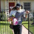 Gabriel Aubry et sa fille Nahla, à Los Angeles, le 9 février 2012