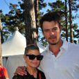 La chanteuse Fergie soutient son homme Josh Duhamel lors de son tournoi de golf, à Los Angeles, le 8 février 2012