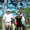 Fergie soutient son homme Josh Duhamel lors de son tournoi de golf, à Los Angeles, le 8 février 2012