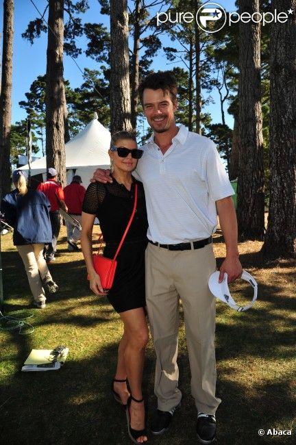 Fergie soutient son mari Josh Duhamel lors de son tournoi de golf, à Los Angeles, le 8 février 2012