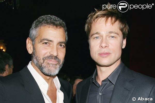 George Clooney et Brad Pitt