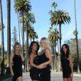 Chloé, Ayem, Caroline et Sandra dans Hollywood Girls (scripted reality de NRJ 12)