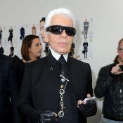 Karl Lagerfeld : Tops, it-girls, tous présents pour l'applaudir chez Fendi