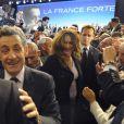 Carla Bruni et Nicolas Sarkozy à Marseille, le 19 févirer 2012.