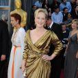 Meryl Streep arrive aux Oscars, le 26 février 2012 à Los Angeles, quelques heures avant son prix de la meilleure actrice.