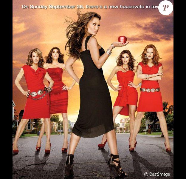 Teri Hatcher, Marcia Cross, Felicity Huffman, Eva Longoria et Vanessa Williams : image promotionnelle de la saison 7 de Desperate Housewives.