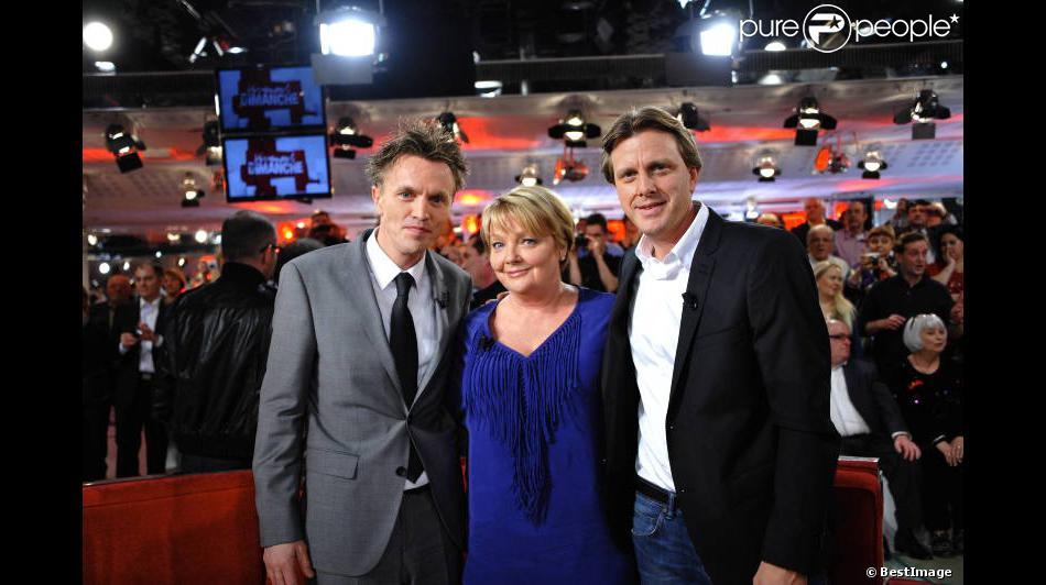Bien-aimé Claude François Junior, Isabelle Forêt et Marc François lors de l  DF83