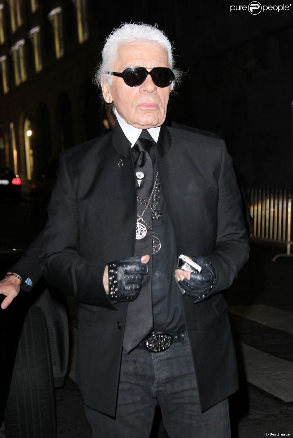 Karl lagerfeld arrive la maison du caviar paris le 1er mars 2012 - Maison karl lagerfeld ...