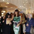 Helena Christensen lors du lancement de sa collection de lingerie Delicate Essence pour Triumph à Dublin. Le 24 février 2012.