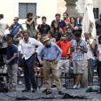Woody Allen en juilley 2011 à Rome, sur le tournage de ce qui deviendra To Rome with Love.