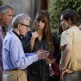 Woody Allen et Penélope Cruz en juillet 2011 à Rome, sur le tournage de ce qui deviendra To Rome with Love.