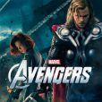 """""""Scarlett Johansson et Chris Hemsworth dans  Avengers , en salles le 25 avril."""""""