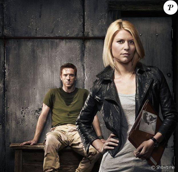 Claire Danes et Damian Lewis dans la série Homeland.