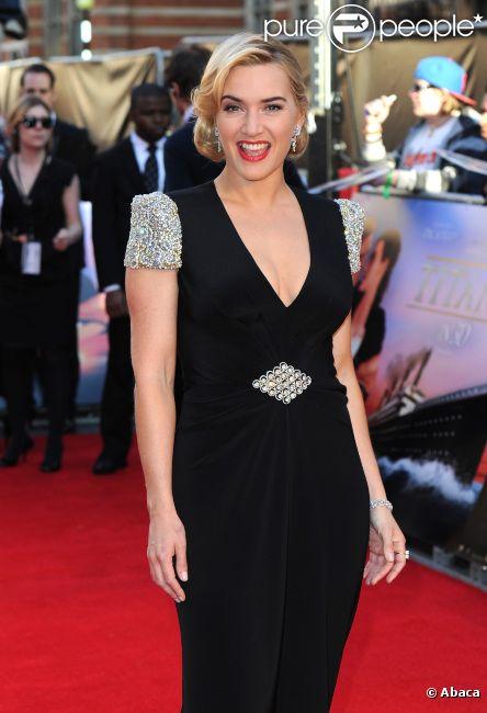 Kate Winslet lors de l'avant-première mondiale de  Titanic 3D  à Londres, le 27 mars 2012.