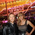Cathy Guetta et David Guetta lors de la soirée de lancement de la Twizy à l'Atelier Renault sur les Champs-Elysées à Paris le mardi 28 mars 2012