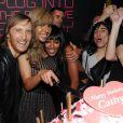 David et Cathy Guetta aux côtés de Naomi Campbell lors de la soirée de lancement de la Twizy à l'Atelier Renault sur les Champs-Elysées à Paris le mardi 28 mars 2012