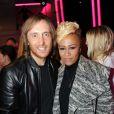 David Guetta et Emeli Sandé lors de la soirée de lancement de la Twizy à l'Atelier Renault sur les Champs-Elysées à Paris le mardi 28 mars 2012