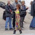 Cheryl Cole sexy, montre son ventre dans son nouveau clip à Los Angeles, le 31 mars 2012.