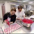 Cyrille et Noémie lors de la finale de Top Chef 3, lundi 9 avril 2012 sur M6