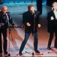 Les Bee Gees sur le plateau du théléton en 1987