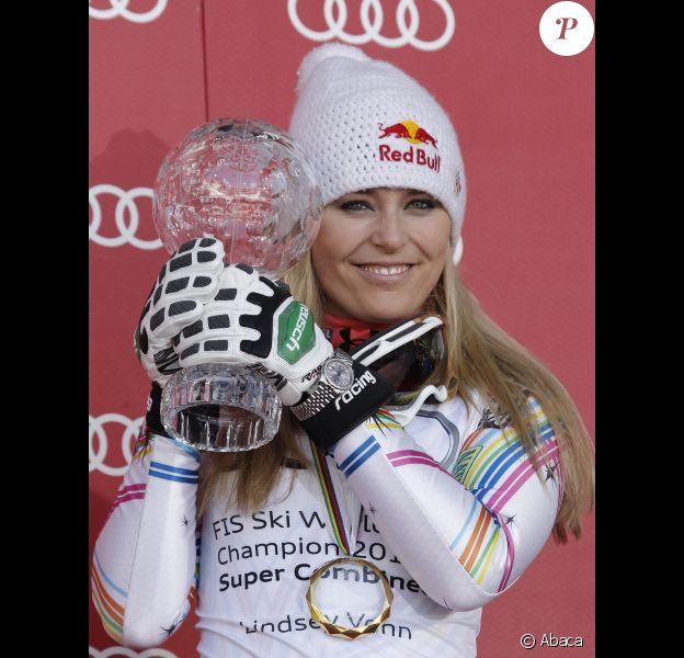 Lindsey Vonn le 14 mars 2012 à Schladming en Autriche