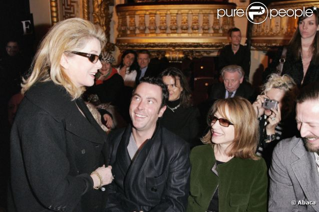 Catherine Deneuve, Christophe Robin et Nathalie Baye le 5 mars 2006 à Paris