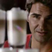Roger Federer se glisse dans la peau de George Clooney pour une tasse de café