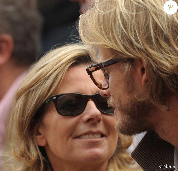 Claire Chazal est venue à Roland-Garros avec son compagnon Arnaud Lemaire
