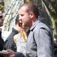 AnnaLynne McCord et son compagnon Dominic Purcell sur le tournage du film Bailout à Vancouver, le 21 avril 2012