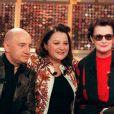 Michel Blanc, Josiane Balasko et Dominique Lavanant sur le plateau de Vivement dimanche en 2001