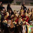 Image du  Diamond Jubilee Pageant , formidable spectacle équestre donné à Windsor en l'honneur du jubilé de diamant de la reine Elizabeth II, joué par plus de 550 chevaux et 1100 artistes du monde entier. La monarque, passionnée de chevaux, y a assisté les 11 et 13 mai.