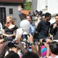Jada Pinkett Smith, Jessica Chastain, Martin Short, Chris Rock, Ben Stiller et David Schwimmer font la promotion de Madagascar 3 à Cannes le 17 mai 2012