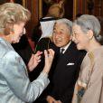La reine Elizabeth II accueillait à déjeuner à Windsor, pour son jubilé de diamant, les souverains de 26 pays, le 18 mai 2012. Possiblement le plus grand rassemblement de têtes couronnées depuis le couronnement de la monarque en 1953.