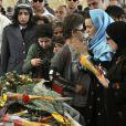 Enterrement de Warda El Djazaïra, au cimetière El Alia, d'Alger, le 19 mai 2012