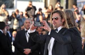 Cannes 2012 : Brad Pitt, chic, savoure son grand moment sans Angelina Jolie