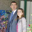 """""""Felipe et Letizia d'Espagne visitaient à Malaga un programme de l'initiative Caritas financée par la Fondation Hesperia, le 22 mai 2012, jour de leurs 8 ans de mariage."""""""