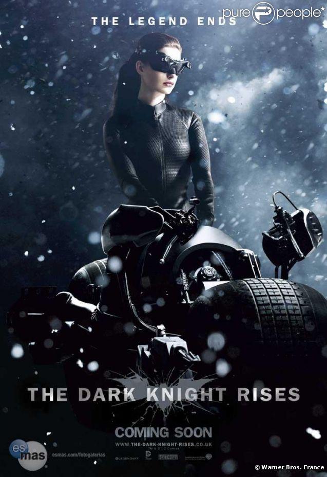 Anne Hathaway dans  The Dark Knight Rises  de Christopher Nolan, en salles le 25 juillet 2012.