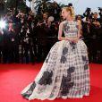 Diane Kruger ose une robe Christian Dior Haute Couture pour la cérémonie de clôture du Festival de Cannes 2012. Le 27 mai 2012.