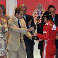 Andrea Casiraghi était présent pour remettre le trophée du troisième à l'Espagnol Fernando Alonso.   La princesse Charlene a suivi le Grand Prix de Monaco, le 27 mai 2012, entre le prince Albert, la comtesse Sophie de Wessex et les frères Andrea et Pierre Casiraghi, avant de prendre part à la cérémonie de remise des trophées, à l'issue de la victoire de Mark Webber.