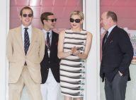 La princesse Charlene pin-up fatale au GP de Monaco, auprès des frères Casiraghi