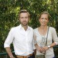 Alexandre Delpérier et sa compagne Johanna posent à Paris, dans les coulisses du tournoi de Roland-Garros, le mardi 29 mai 2012.