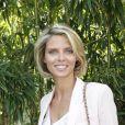 Sylvie Tellier pose à Paris, dans les coulisses du tournoi de Roland-Garros, le mardi 29 mai 2012.