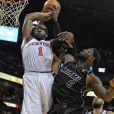 Amar'e Stoudemire lors du premier tour des playoffs 2012 de la NBA. Les New York Knicks se sont inclinés 4-1 face au Miami Heat.